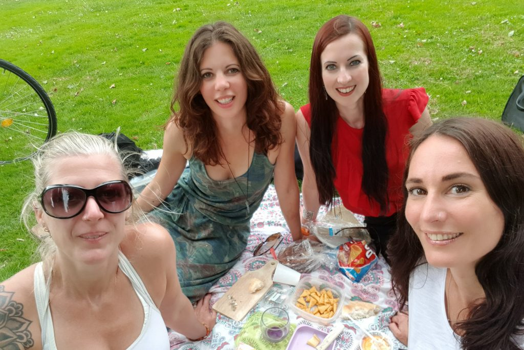 vriendinnen picknick