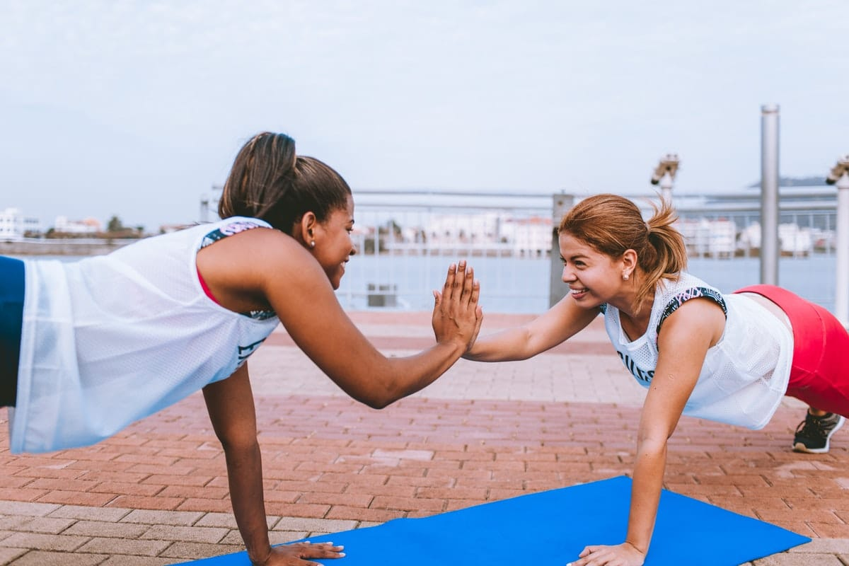 sportende vrouwen